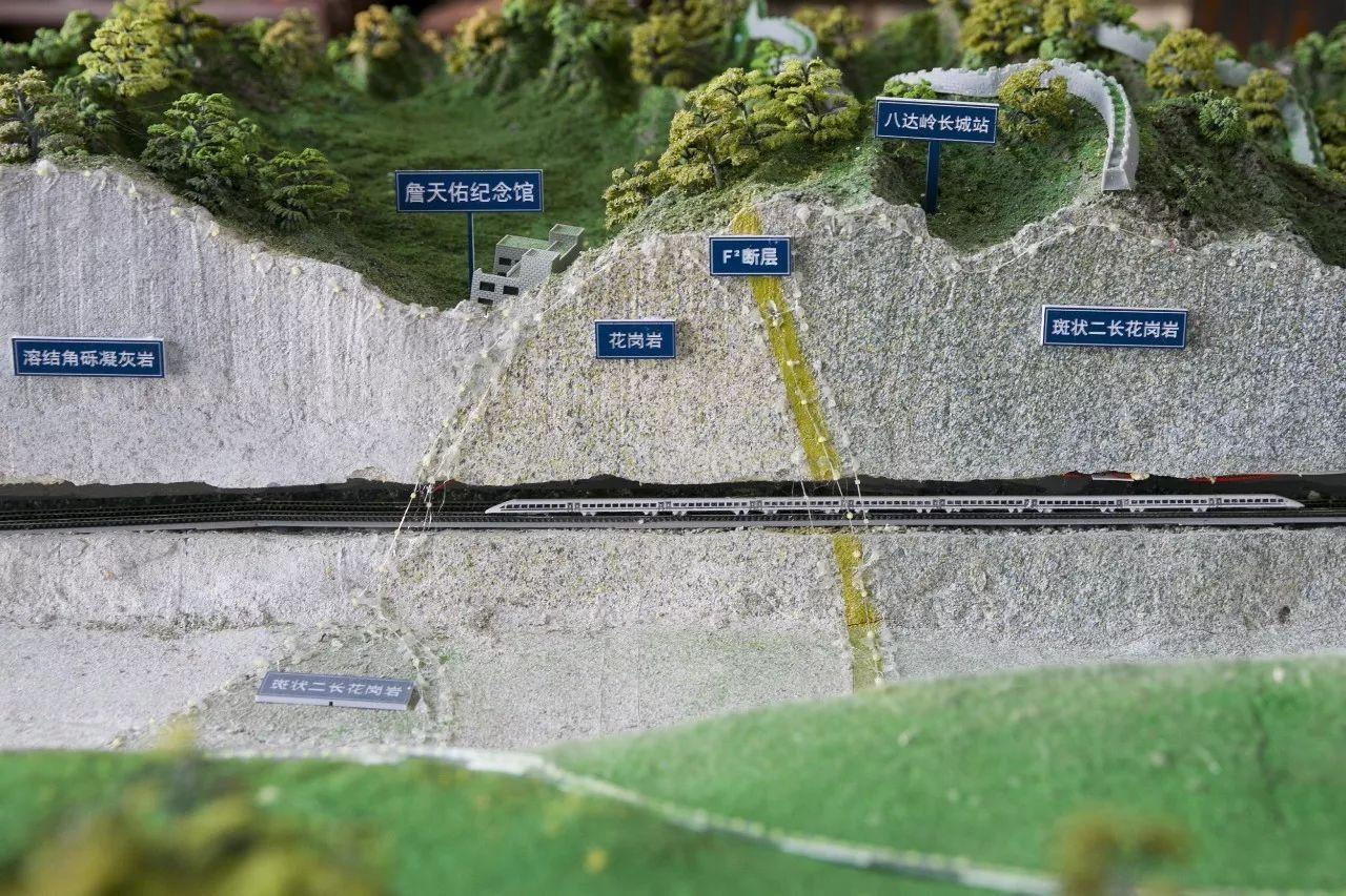 △京张高铁八达岭长城站沙盘/视觉中国