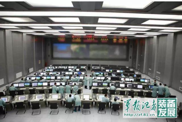 ↑西安卫星测控中心指挥大厅。(资料图)