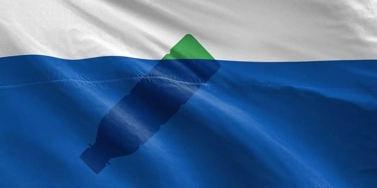 ▲垃圾岛国旗。图片来源:Quartz