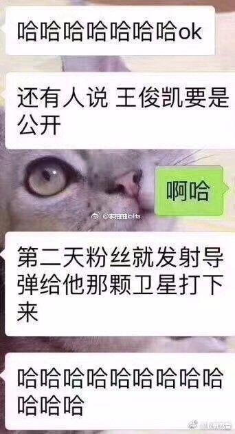 """▲网友调侃:""""要是哪天王俊凯公布恋情,就把卫星打下来""""。图据网络"""