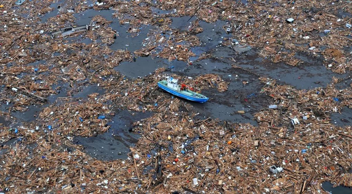 ▲太平洋上的垃圾。 图据Ocean Defenders