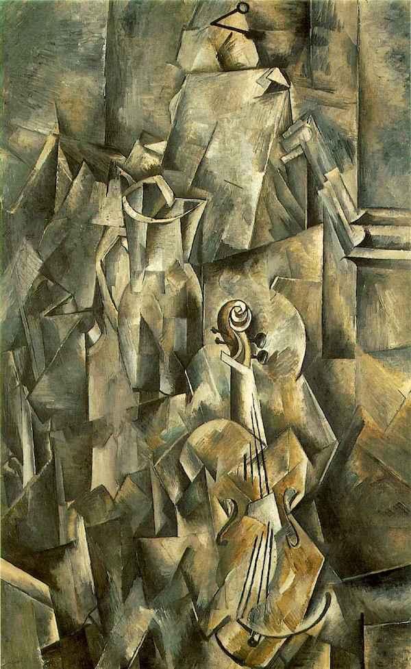 小提琴和调色板,布拉克,1910年