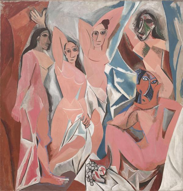 亚维农少女,毕加索,1907,收藏于纽约现代艺术博物馆(MoMA)