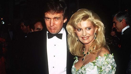 ▲资料图:特朗普与第一任妻子伊万娜
