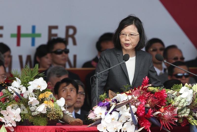 """台湾地区领导人蔡英文(图片来源:""""中央社"""")"""
