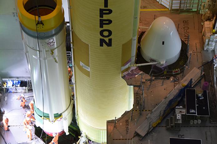 """发射准天顶卫星""""引路""""4号的H2A火箭36号机"""