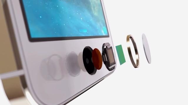 iPhone 5s的按压式指纹识别