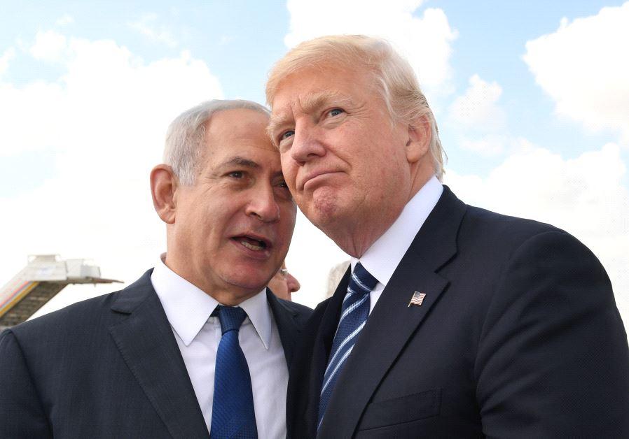 以色列总理本雅明·内塔尼亚胡与特朗普