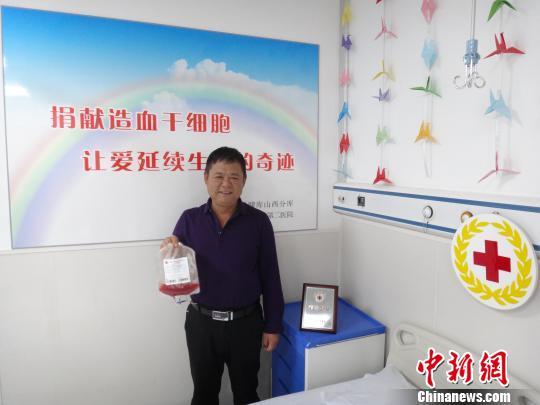 曹彦平先捐造血干细胞再捐淋巴细胞挽救同一陌生人。 左彤 摄
