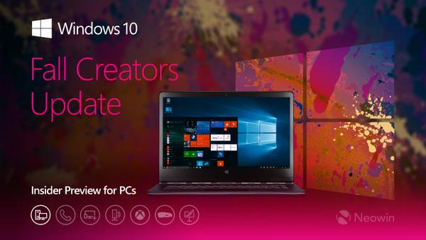 微软向预览者推送Windows 10累积更新KB4043961