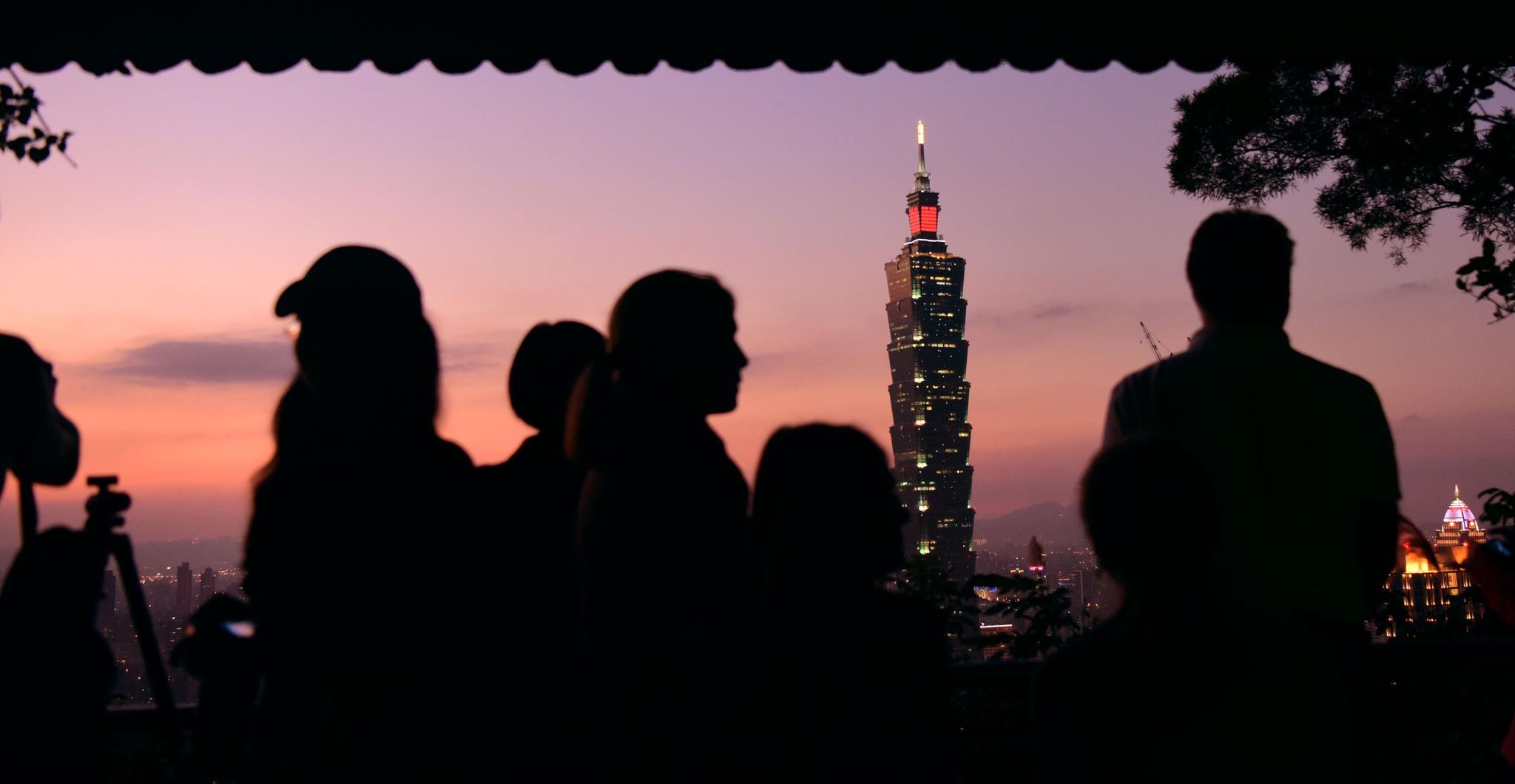 资料图片:台北101大楼