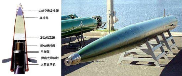 """▲""""暴风""""鱼雷是历史上第一种成功将超空泡技术实用化的水下武器。"""