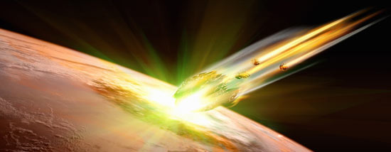 彗星撞地球模拟图。视觉中国供图