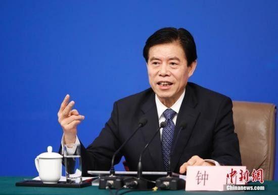 ▲资料图片:2017年3月11日,中国商务部长钟山在记者会上表现,商业战不切合中美基础利益。