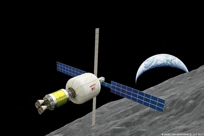 毕格罗计划在月球轨道上放置一个可扩展的太空栖息地