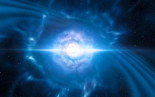 欧洲南方天文台(ESO)的望远镜捕捉到的双子星引力波之光。(图片来源:ESO)