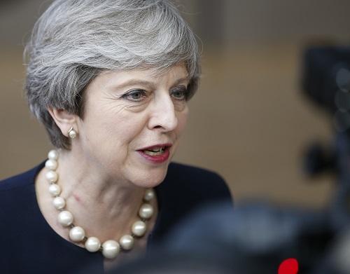 英国首相特雷莎·梅 新华社记者叶平凡摄
