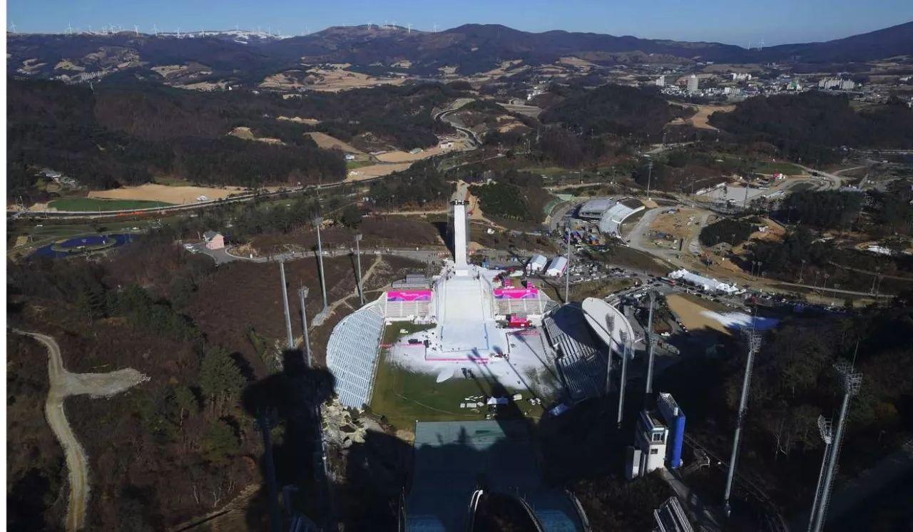 ▲平昌冬奥会滑雪比赛举办场地