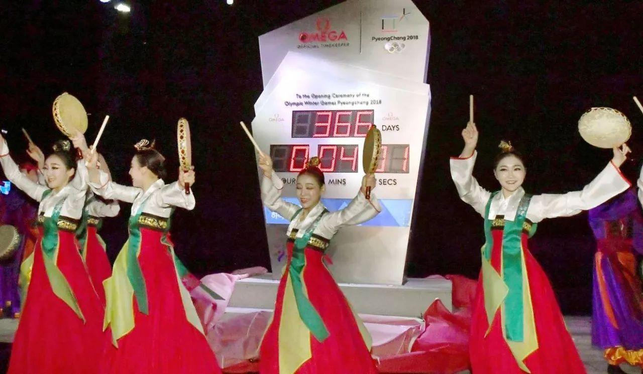 ▲在首尔举办的2018平昌冬奥会倒计时活动