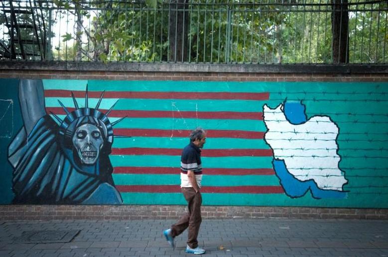德黑兰街头的反美涂鸦。(图/路透社)