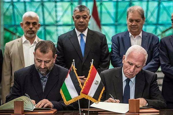 哈马斯和法塔赫达成和解协议。视觉中国 图