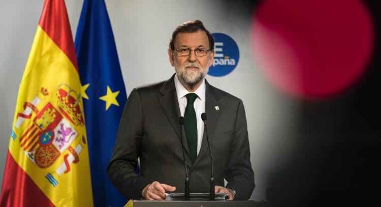 图为西班牙首相马里亚诺<span class=