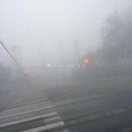 今晨,北京雾气弥漫。图片泉源:微博网友@全幼儿园最可爱_V