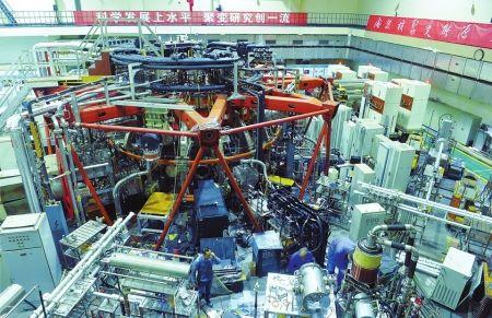 ↑10月19日,核工业西南物理研究院内的中国环流器二号装置。