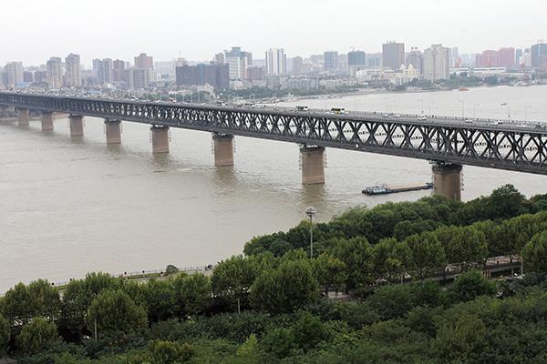 武汉长江大桥 视觉中国 图