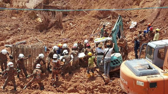马来西亚山体滑坡遇难人数或达11人