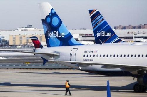 资料图:捷蓝航空公司客机(图片来源:路透社)