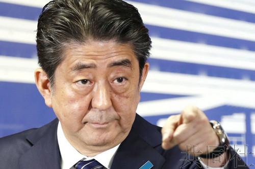 资料图片:日本首相安倍晋三。(共同社)