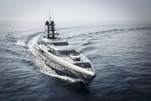 ▲SilverYachts设计和制造的全铝合金超级游艇。
