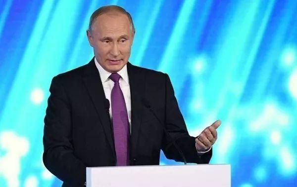 ▲普京在俄智库瓦尔代国际辩论俱乐部年会上发言。