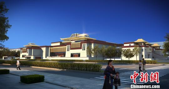 西藏博物馆新馆外立面侧视预览图 西藏博物馆供图 摄