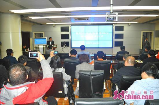 聊城市环保局党组成员、市总量办主任王先民介绍情况。