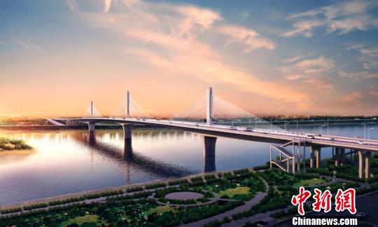 中国最宽的单箱梁体矮塔斜拉桥工程两创全国第一。 李佳微 摄