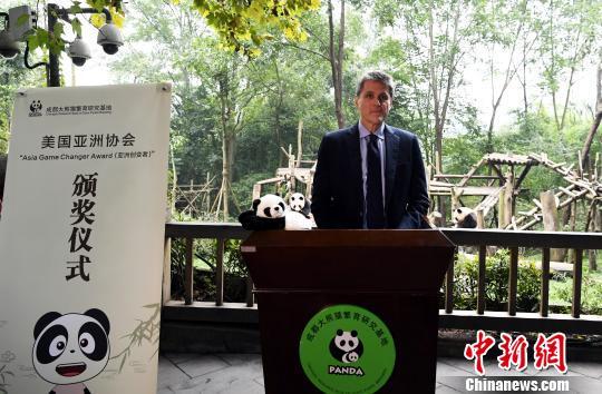 美国亚洲协会高级副总裁汤姆·纳戈尔斯基TomNagorski在颁奖仪式上发言。 安源 摄