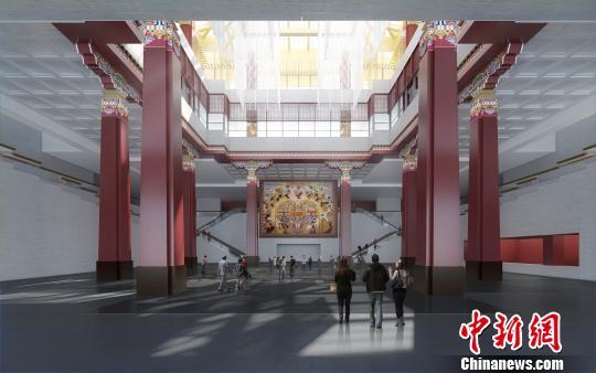 西藏博物馆新馆中央大厅效果预览图 西藏博物馆供图 摄