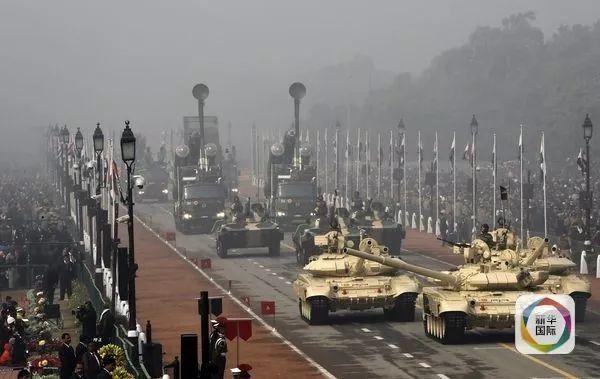 ▲资料图片:2016年1月,印度首都新德里举行盛大阅兵式。