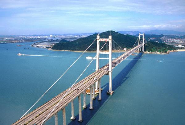 图为南沙虎门大桥。 东方IC 资料