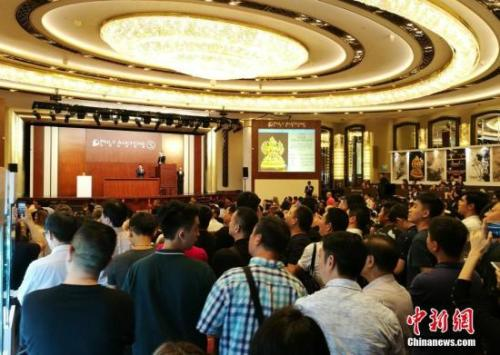 资料图:2017香港秋季拍卖季。中新社记者 杨可佳 摄