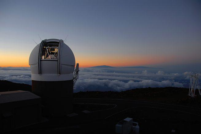 """夏威夷的""""泛星计划""""1号望远镜首先发现了这一星际物体。图片来源:Rob Ratkowski/夏威夷大学"""