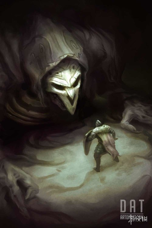 《守望先锋》英雄成《黑暗之魂》 国外画师脑洞大开