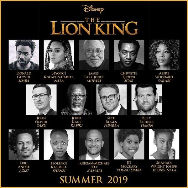 真人版《狮子王》曝配音全阵容 碧昂斯确定加盟