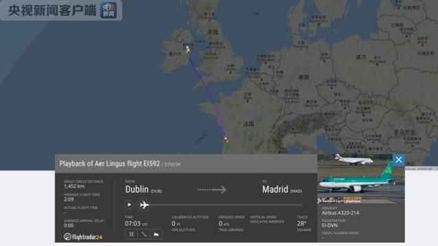 香港六喝彩2015年开奖突发:一架从爱尔兰飞往西班牙的航班遭遇紧急情况