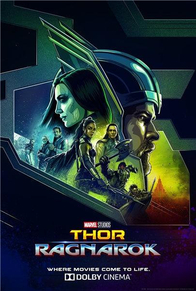 《雷神3》发布杜比独家海报  集结众神势不可挡