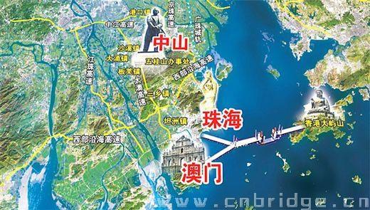 港珠澳大桥示意图(图片来源:当代生活报)