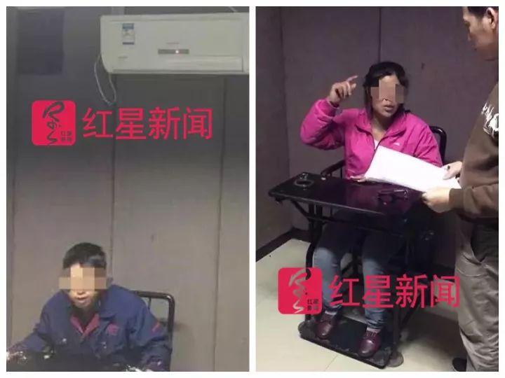 ▲小金父母在接受警方审查。警方供图