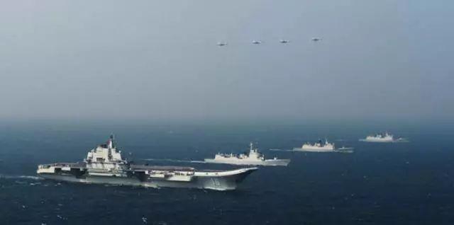 ▲2014年辽宁舰赴南海海域科研试验和训练